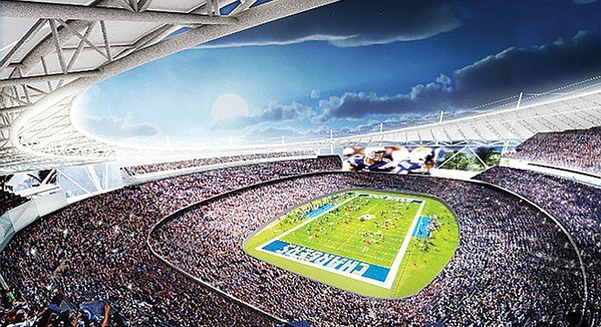Drawing of proposed Carson stadium