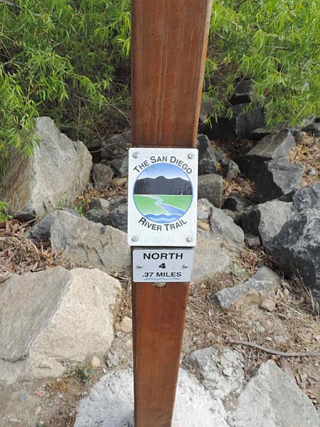 Mile markers measure your progress along the trail