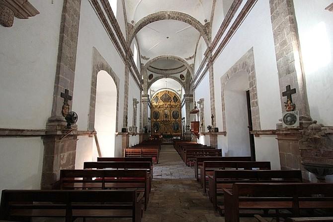 Mission church in San Ignacio, on Highway 1 between Guerrero Negro and Mulegé.