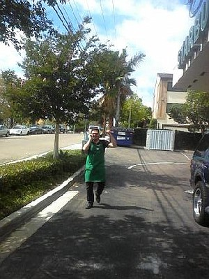 Starbucks employee calls police after computer is stolen from a customer