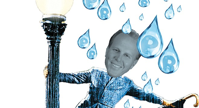 """Our politically ambitious Mayor Faulconer is hyping himself as the """"anti-drought mayor."""""""