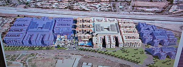 From Casa Mira View website: left shaded section is phase 2, now under construction;  right shaded section is unbuilt phase 3.