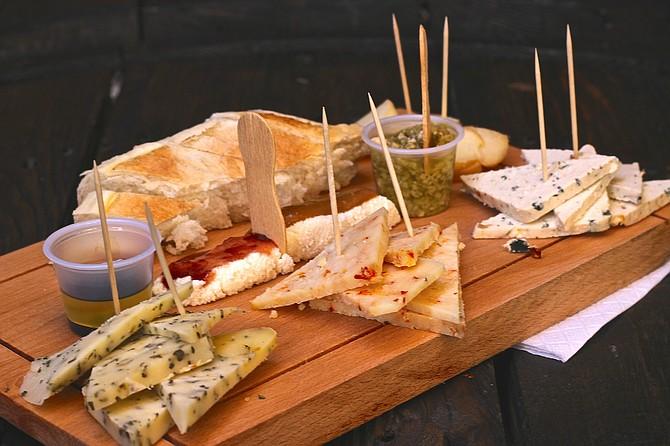 Assorted cheese plate from Santa Brigida