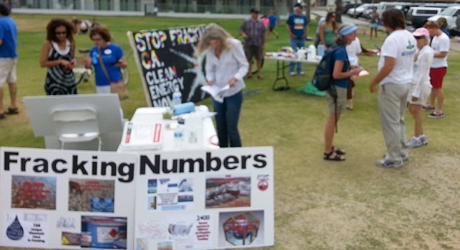 Anti-fracking rally in Ocean Beach