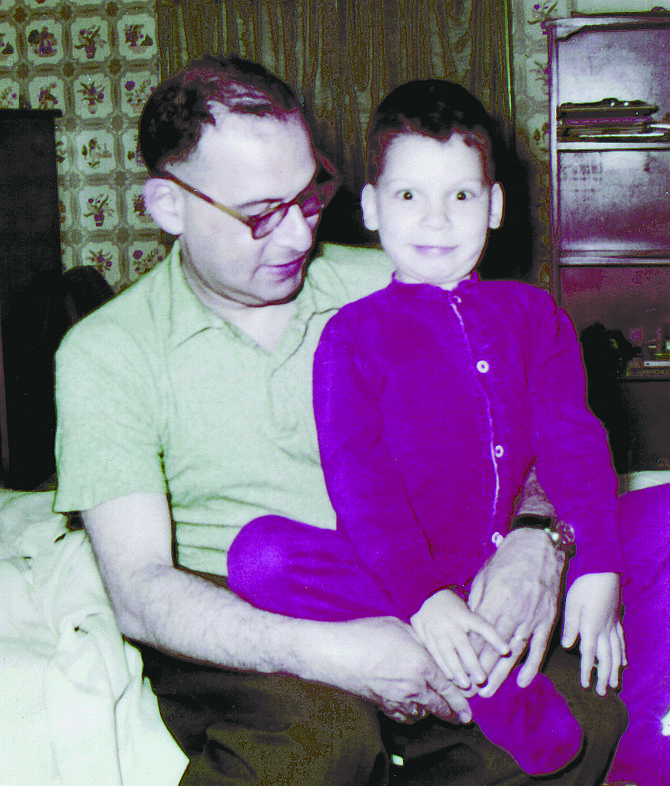 "August Kleinzahler with his father. ""I was an accident."""