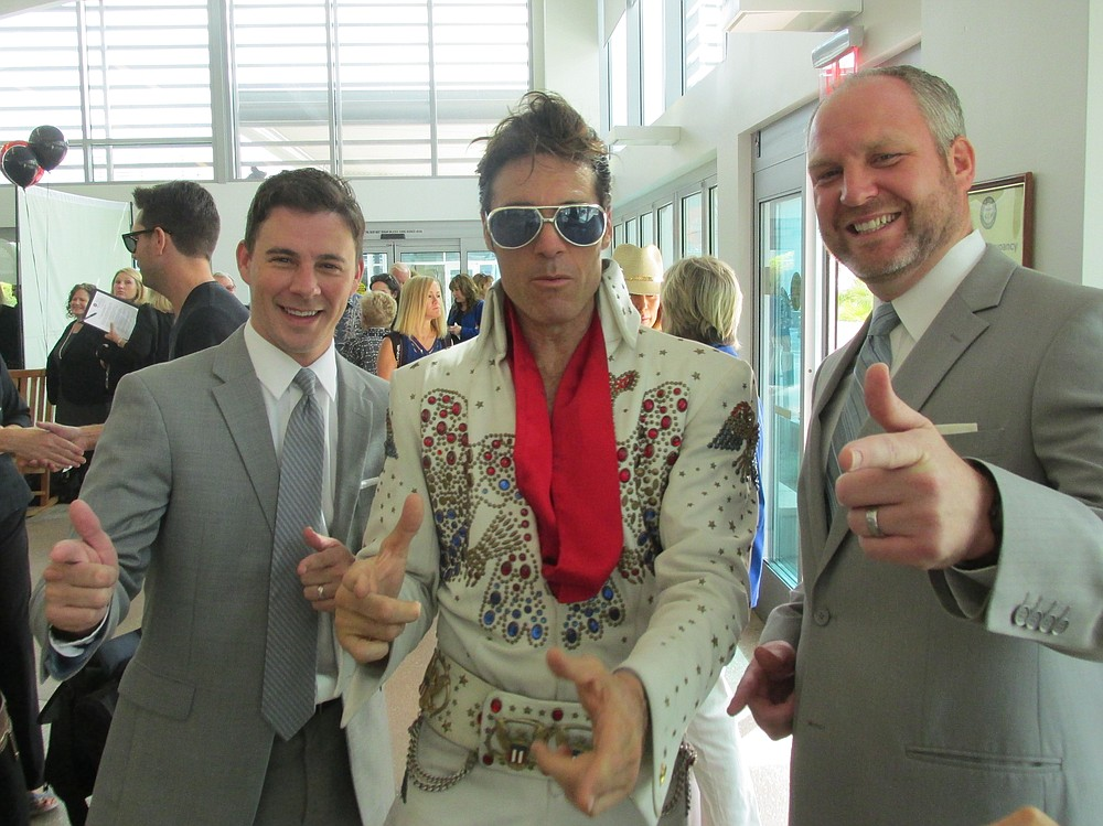 Elvis with Chris Champine & Dustin Steiner from Supervisor Horn's staff