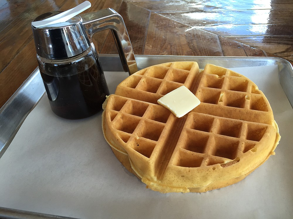 A damn good waffle at Streetcar Merchants
