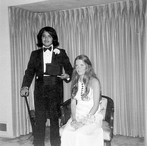 Steve Esmedina with prom date