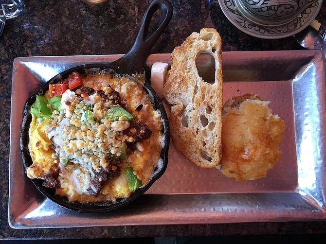 Short Rib Cast Iron Omelet at Cafe 21