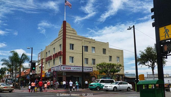 Travel Photos MEXICO Tijuana,Baja California Hotel at Revolucion Avenue and Fifth Street in Tijuana / Hotel en Avenida Revolucion y Calle Quinta en Tijuana.