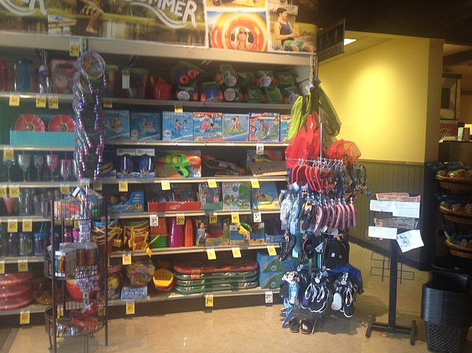 """The once """"Sprouts-like"""" Von's now has an entryway that looks like a 99-cent store."""