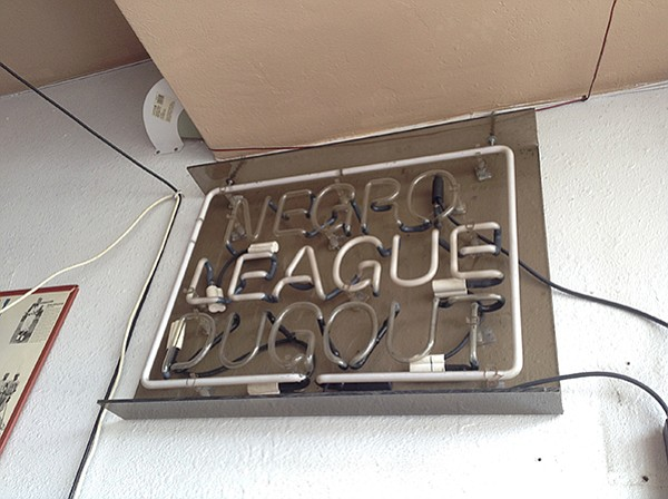 Neon sign from the segregated baseball era