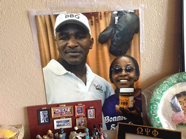 One tough customer: Evander Holyfield with Bonnie Jean