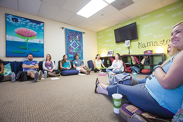 Messer teaches a class at the Birth Education Center of San Diego in Mira Mesa