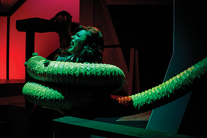 In Forbidden Planet the cast speaks in Shakespearean iambics and sings '60s rock songs.