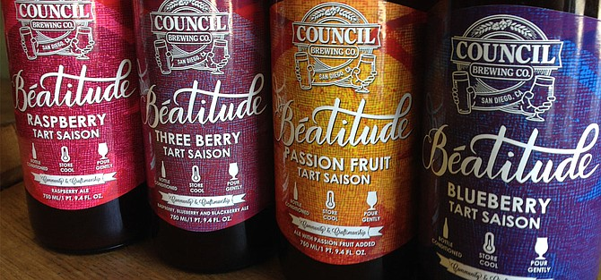 Each month, Council releases different flavors of their Beatitude Tart Saison.