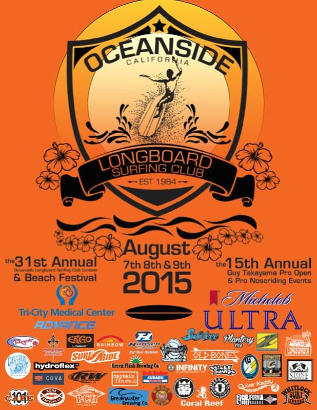 Oceanside Longboard Festival poster