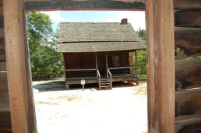 A log cabin at the Lexington County Museum.