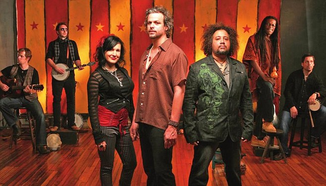 Rusted Root, regulars at Belly Up, will play the Music Box instead, on October 28.