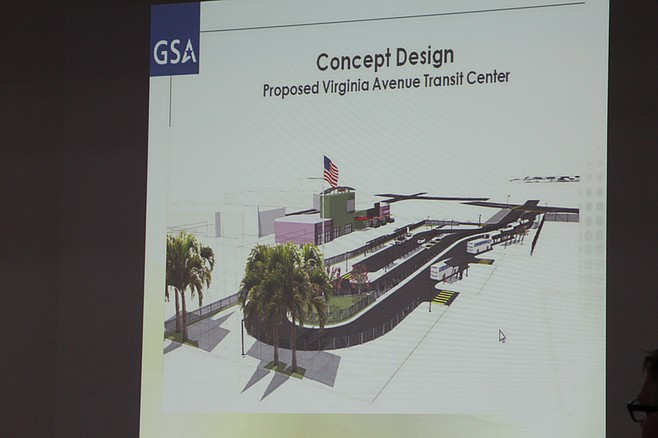 Design concept for Virginia Avenue Transit Center