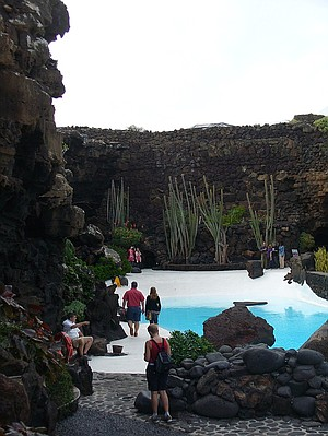 Poolside entrance to Manrique's amazing Jameos del Agua.