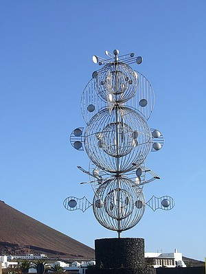 César Manrique wind sculpture on Lanzarote.