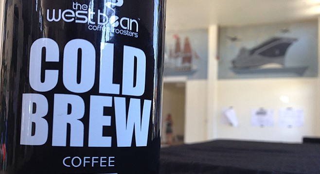 Bottles of West Bean cold brew, available at Liberty Public Market this fall