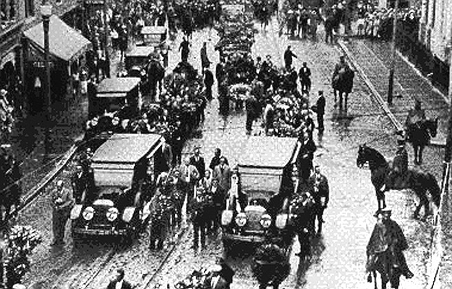 Sacco and Vanzetti funeral procession