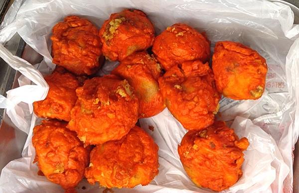 Nafaqo, potato wrapped around hard-boiled eggs and deep-fried
