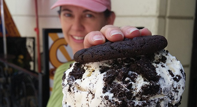 Crunchtime's cookies and cream sandwich