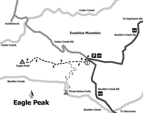 Map to Eagle Peak