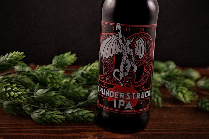 To celebrate its new Australian distribution, Stone's 19th Anniversary release Thunderstruck IPA incorporates all Australia-grown hops.