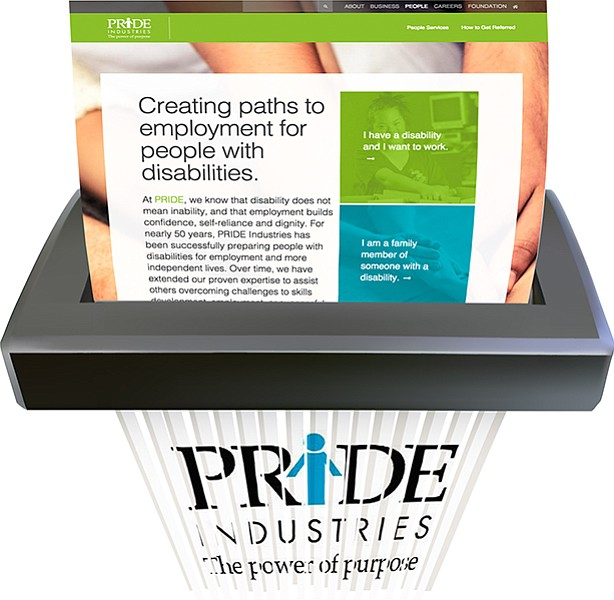At Pride Industries, 75 percent of the hours worked must be by people with disabilities.