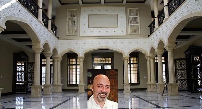 Husam Aldairi (inset) and interior of Chicago home