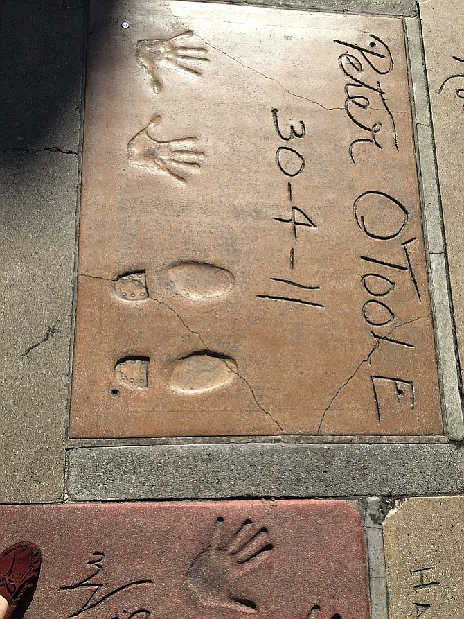 The shoe prints of my hero on the Walk of Fame. The closest to starstruck I'm ever going to get.