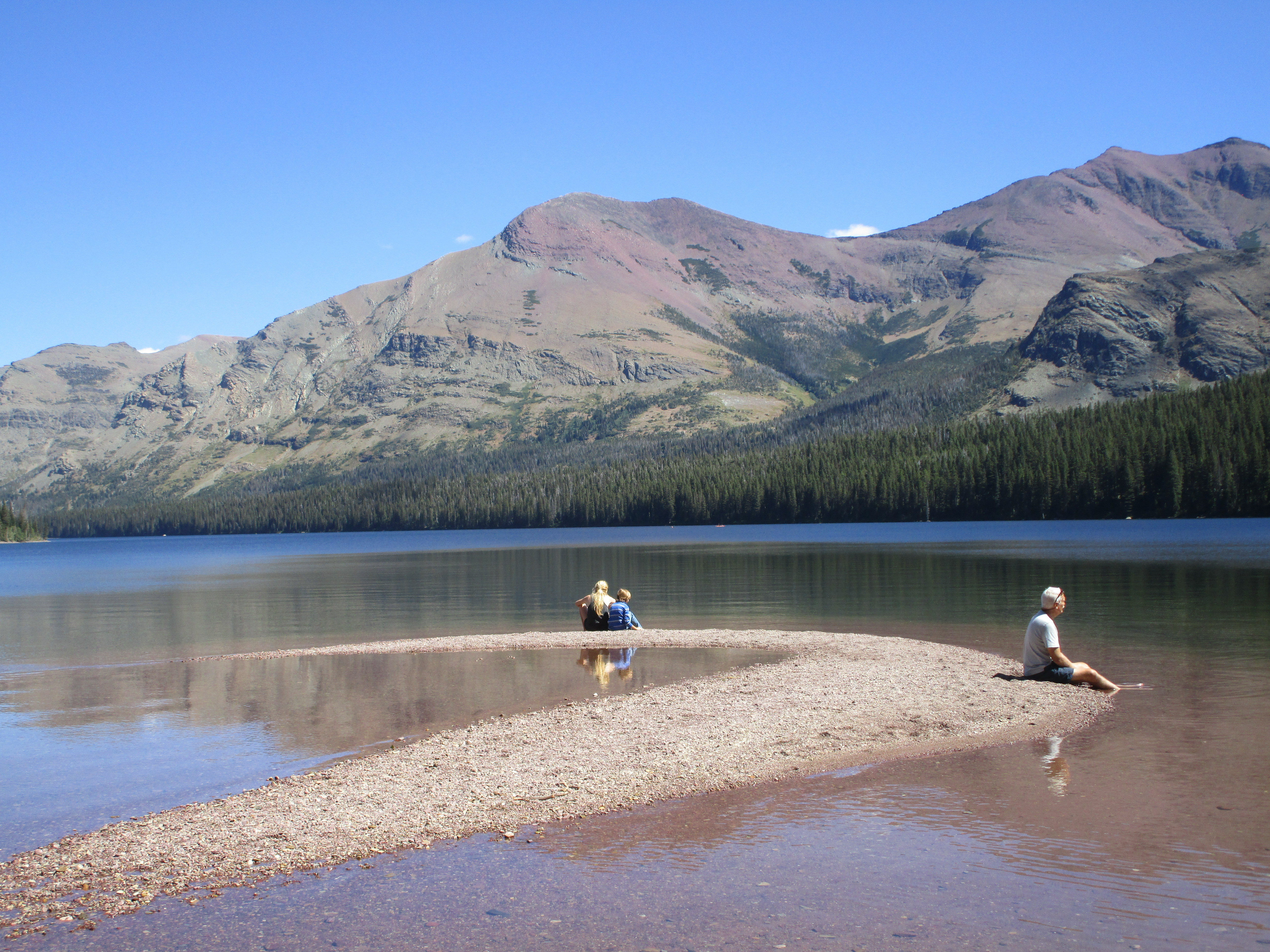 A quiet moment at Two Medicine Lake in Glacier National Park