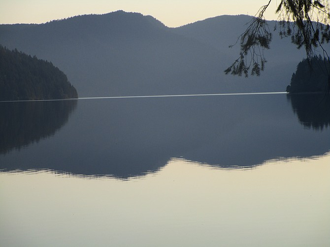 Lake Crescent at dawn, Olympic National Park