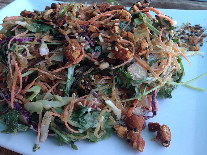 This nutty noodley salad actually made for a great lunch.
