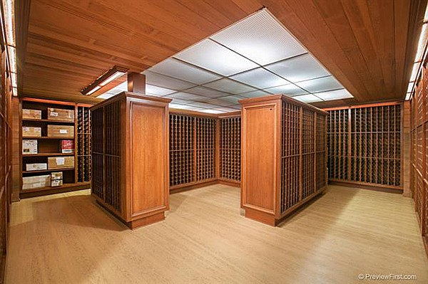 Wine cellar with rack storage for up to 7000 bottles