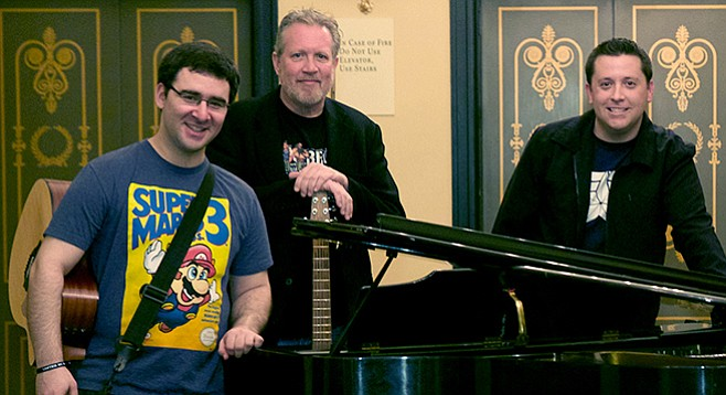 Nerd-rock trio Random Gibberish are putting the tunes back into 'toons.