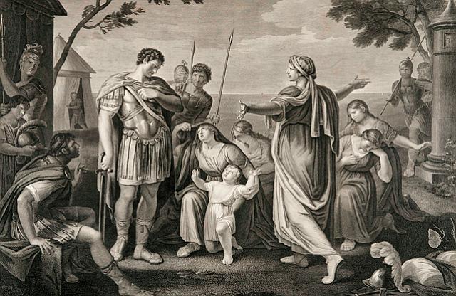 A scene from Shakespeare's Coriolanus