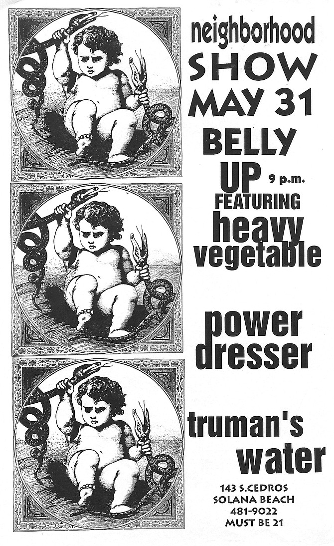 Belly Up show poster