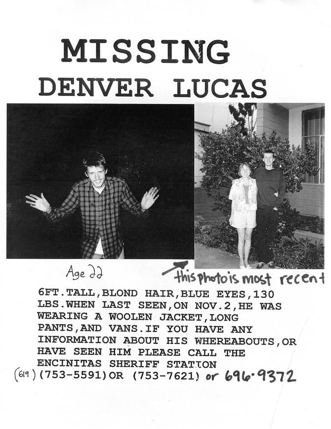 "Denver Lucas ""missing"" flyer"