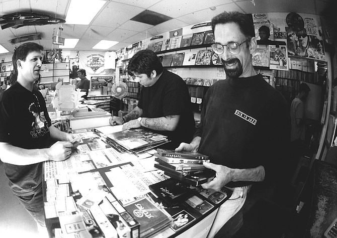 """Lou Russell of Lou's Records: """"Denver and Gabe and Lee drove into our parking lot on a Saturday or a Friday and jumped out, set up, played for 20 minutes, then jumped back in the car and left. It was like a kamikaze in-store."""""""