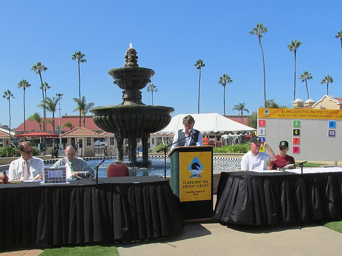 Post position drawing  for TVG Pacific Classic at Del Mar, August 19