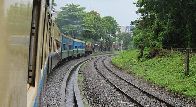 Yangon's Circle Line train circumnavigates the city for local commuters and travelers in the know.