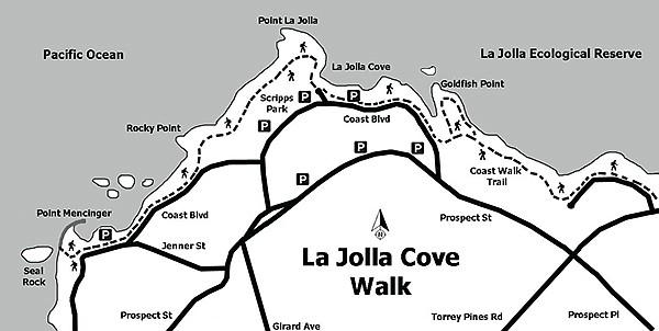 La Jolla Cove beach walk map