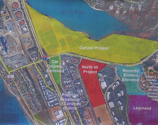 Map indicating proposed area of development