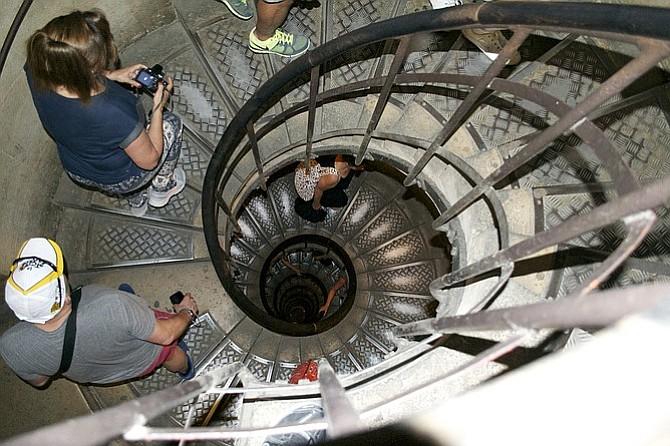 Arc de Triomphe staircase.