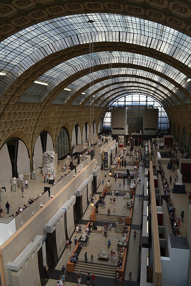 Paris's Orsay Museum is housed in a former train station.